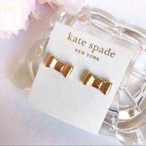NWT Kate Spade Gold Tone Bow Stud Earrings